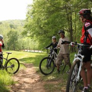 groepje mountainbikers
